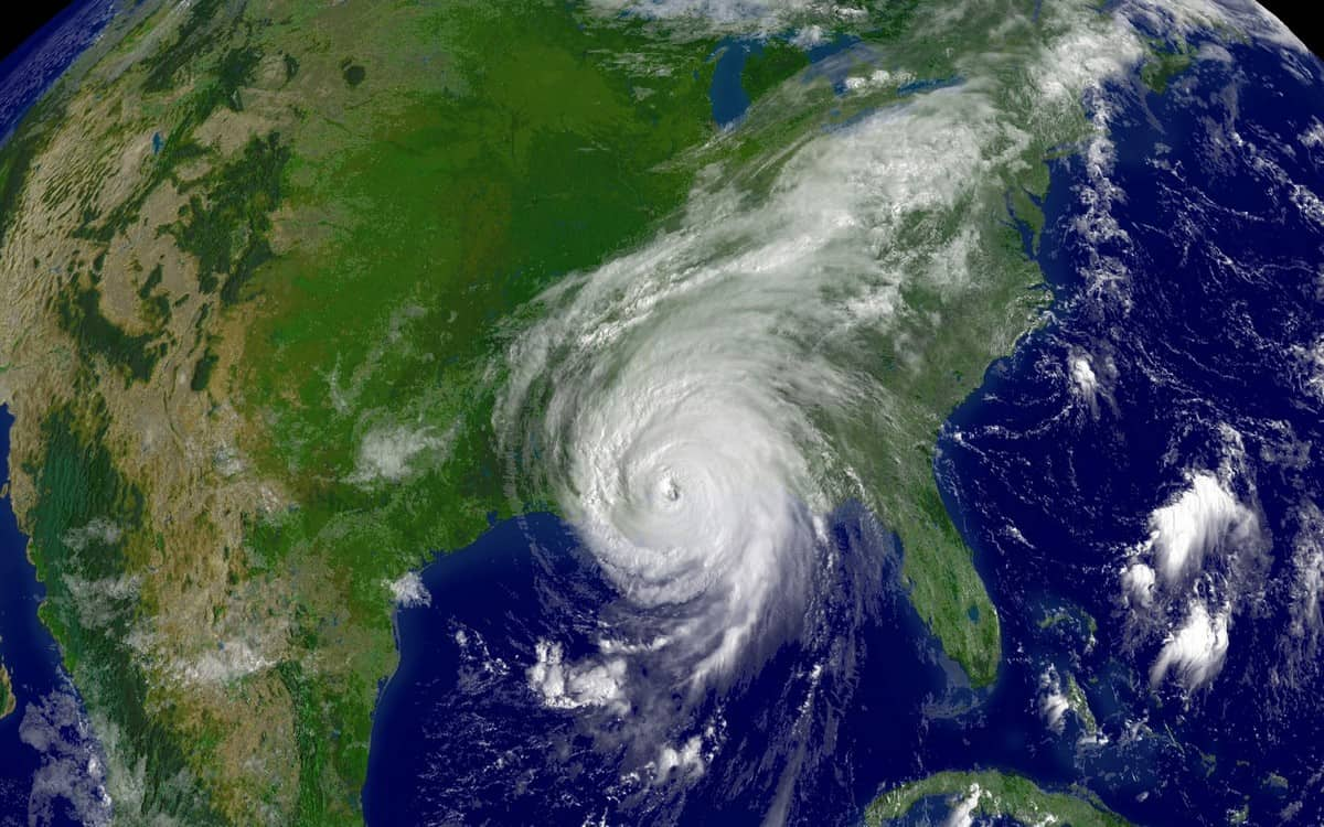 Hurricane Katrina as seen from space