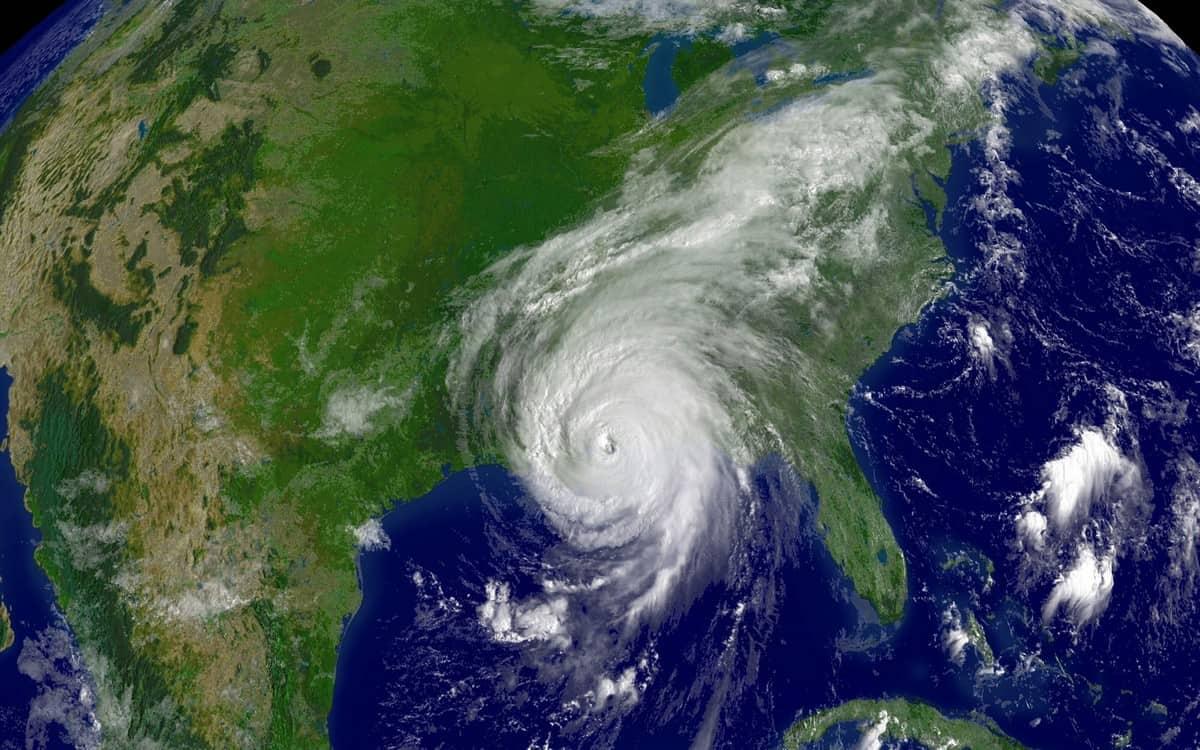 Hurricane Katrina as seen from space